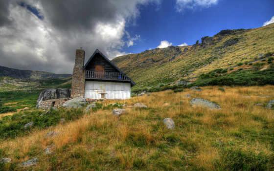 дом, горы