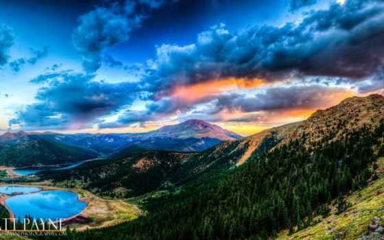 закат, озеро, взгляд