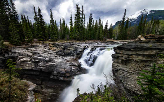 athabasca, falls, альберта, канада, samsung, nx, мм, free, jasper,