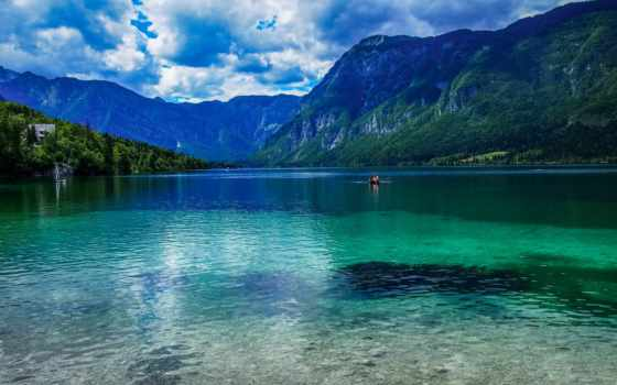 slovenia, озеро, mix, desktop, cool, bled, bohinj, lakes,