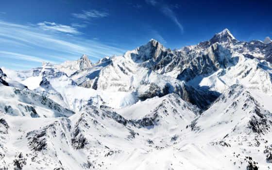 снег, горы, вершины, вершине, заставки, рисунки, природа,