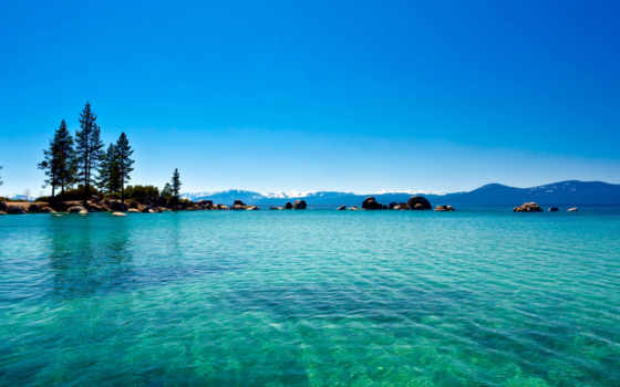 озеро, blue, water, река, заставка, хороший, лес, качество, california, море