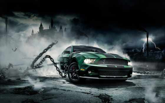 mustang, hd, design, ford, wallpapers, studio, wallcoo, цепи, creative, digital, artwork, seven, street, monster,