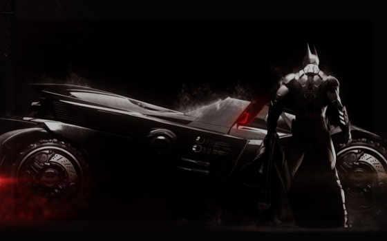 batman и бэт-мобиль