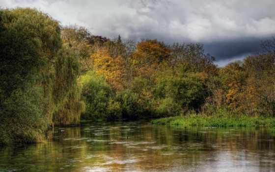 you, осень, река