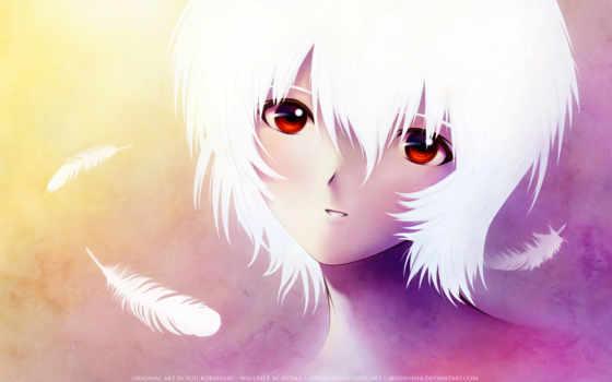 anime, девушка, white