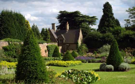 парки, сады, англии, design, landscape, природа, gardens, красивых, домики, англия,
