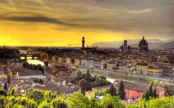 florence, italy, firenze, italian, закат,