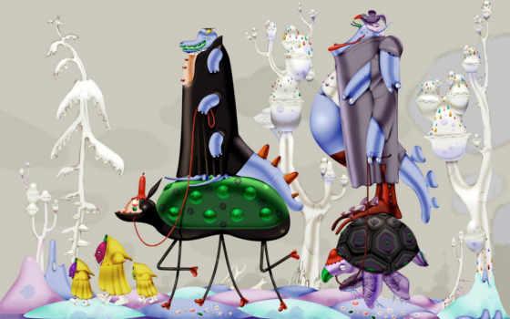 desktop, windows, abstract, фантазия, cartoon, seven, large, microsoft, больная, bis,