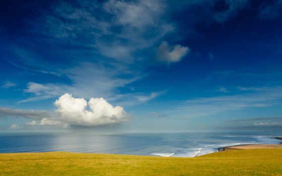 небо, берег