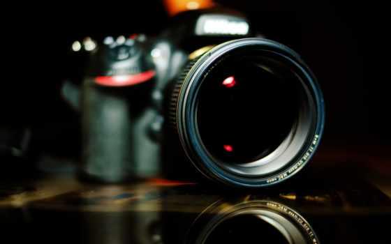 dslr, фотоаппарат, объектив