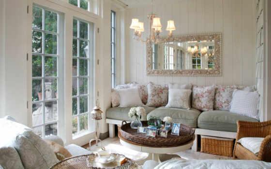 прованс, стиле, стиль, гостиной, интерьере, design, камин,
