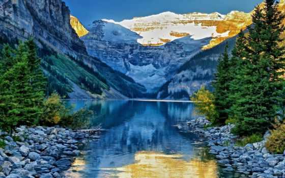 природа, озеро, горы