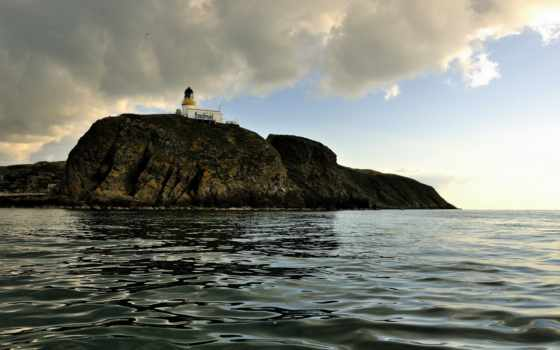 lighthouse, море, гора, landscape, fotografie, tapety, materiál, pozadí, маяк, obraz,