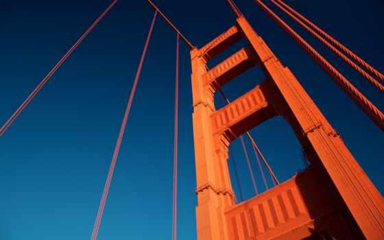 золотистый, мост, gate, башня, free, desktop,