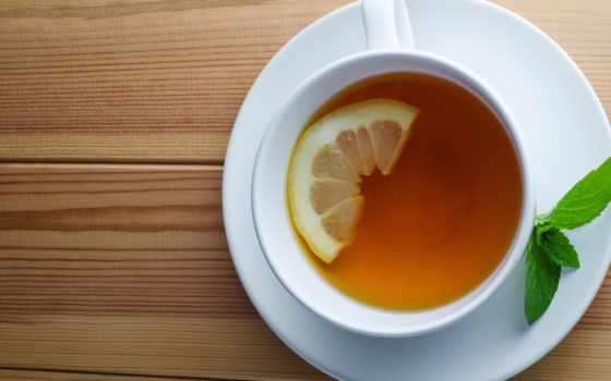 чая, лимоном, lemon