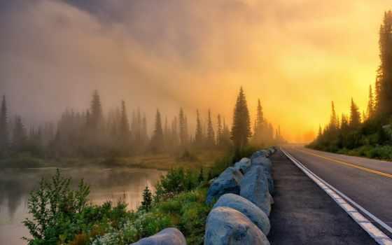 landscape, туман, утро, лес, фото, филипп, kuntz, дорога, день, ответы, ворошить,