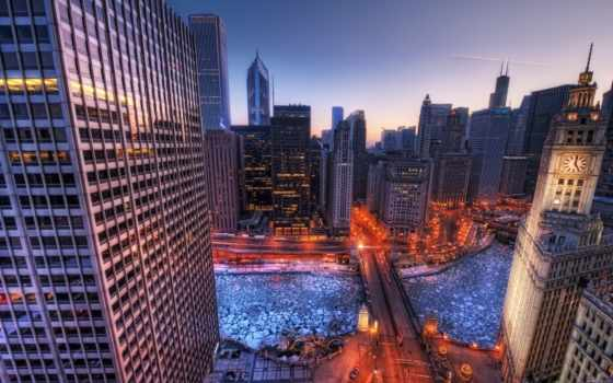 chicago, winter, desktop, hdq,