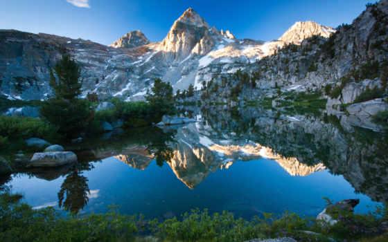 озеро, гора, коллекция, природа, озера, user, fore