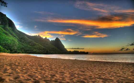 пляж, закат Фон № 59167 разрешение 1920x1200