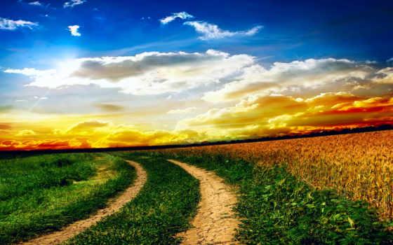природа, oblaka, небо