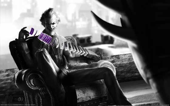 joker, batman, arkham, город,