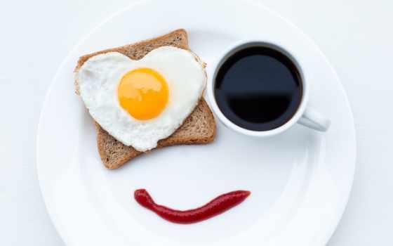 coffee, завтрак, яичница, еда, хлеб, кружка, ketchup, cup, креатив, улыбка, табличка,