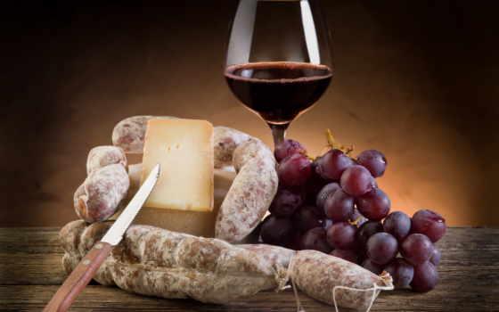 сыр, вино, красное, glass, виноград, пармезан, скопление, колбаса, ломоть, нож,