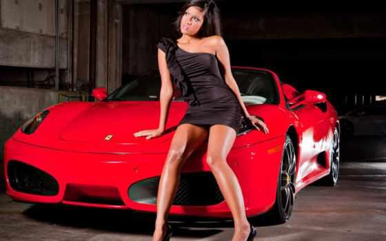ferrari, тачка, модель, девушка, brunette, devushki, автомобили, машины, авто,