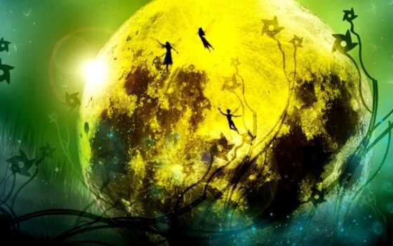 fantasy, art, луна, artwork, planet, illustration, snake,