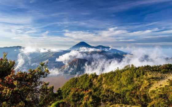 indonesia, java, landscape, бромо