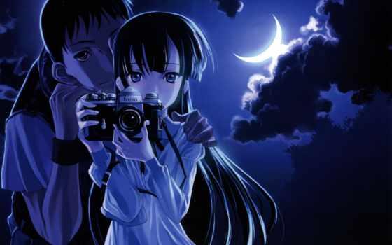 девушка, луны