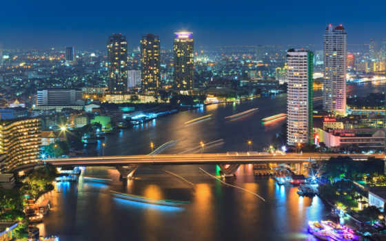 bangkok, ночь, таиланд