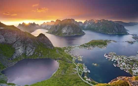 норвегия, горы, tall