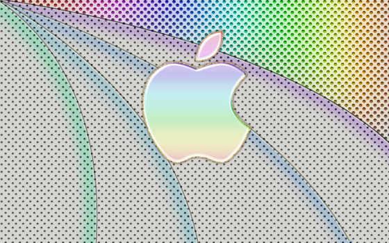 apple лого разноцветное