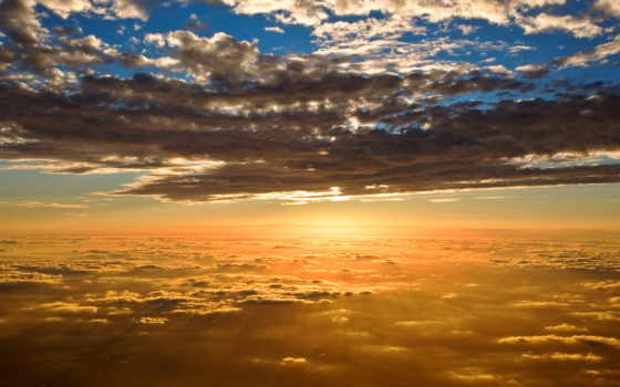 природа, солнца, oblaka