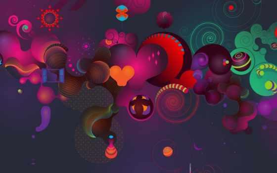 абстракция, abstract, фон, click, one, краски, colourful, resolution,