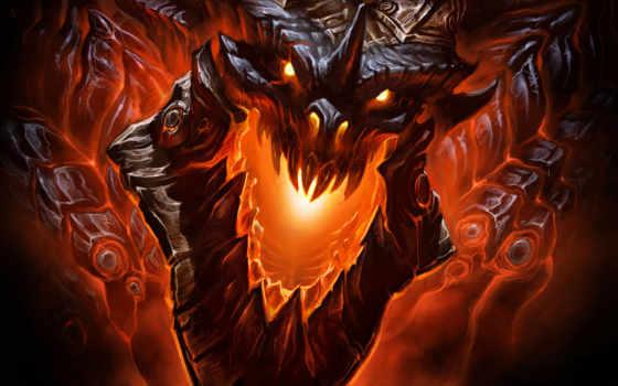 warcraft, world, дракон