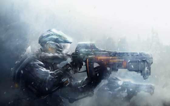 военные, art, снег, солдат, blizzard, шлем, войны, оружие, доспех,