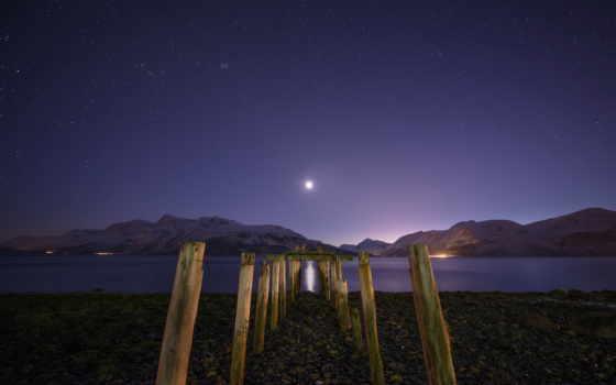 stars, луна, photography, первую, ан, travel, thefella, hdr, inside, fjord,