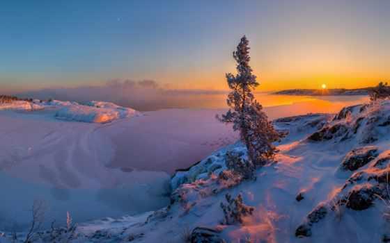 ладожское, озеро, берег, зимой, озера, европы, щите, располагается, одно, крупнейших, пресноводных,