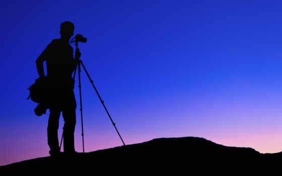 силуэт, фотограф, resolutions, notebook, photos,
