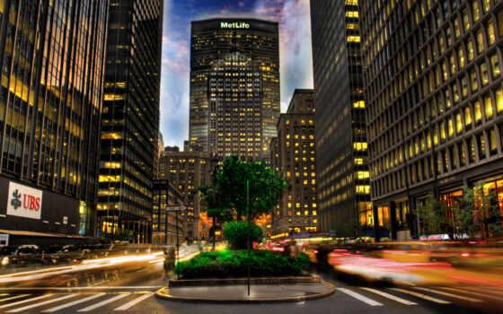 нью, york, город, ночь, сша, миро, new, улица