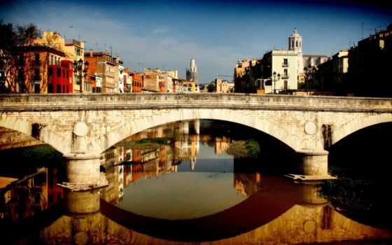 мост, город