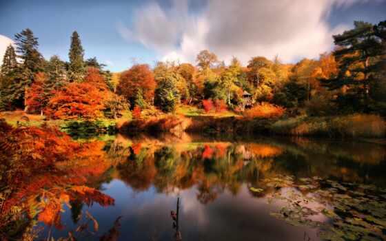 осень, парк, пруд, беседка, картинку, картинка, выберите, кнопкой, ней, правой, мыши,