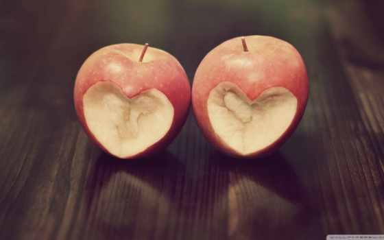 сердца в яблоках