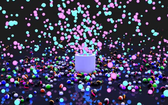 взрыв, шары, краска