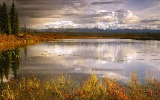 аляска, ecran, denali, fond, paysage, park, national, fonds,