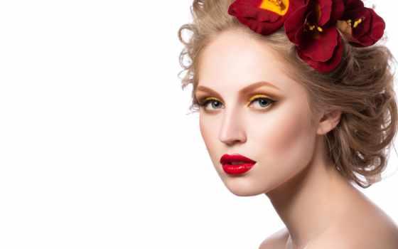 макияж, коллекциях, белом, fone, девушка, яndex, card, салон, цветами, коллекции, фотоснимки,