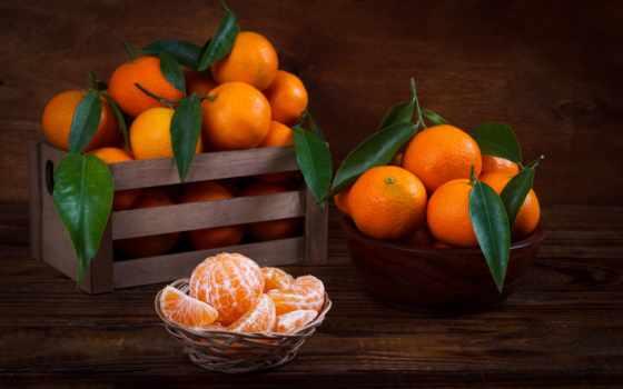 мандарины, mandarin, листва, бесплатные, mandarine, еды,